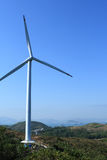 Lamma winds. Is a wind turbine in Tai Ling, Lamma Island, Hong Kong Stock Images