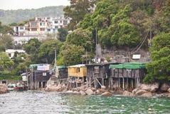 Lamma wyspy wioska rybacka, Hong Kong Obraz Stock