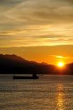 Lammaeiland van Hongkong---zonsondergang Stock Foto's