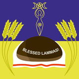 Lammas or Lughnasadh greeting card Royalty Free Stock Photo