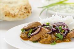 Lammcurry mit Reis Stockfotos