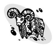 Lammeren in etnische stijl stock illustratie