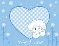 Lammeren voor babyjongen vector illustratie