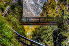 Lammerklamm gorge Stock Photography