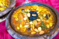 Lammtajine, traditionell moroccan maträtt Royaltyfria Foton
