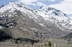 Lamoille Canyon, Elko County Nevada. A camp in the Ruby Mountains at Lamoille Canyon Stock Images