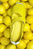 Lamon Yellow Shoe Stock Image