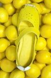 Lamon Yellow Shoe Stock Image