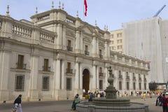 LaMoneda presidentpalatset i Santiago, Chile Royaltyfri Bild
