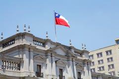 LaMoneda slott, Santiago de Chile, Chile Royaltyfria Foton