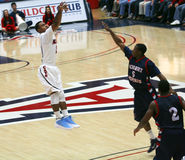Lamont Jones Shoots. In a University of Arizona Wildcats Men's Basketball Game Against the Robert Morris Colonials at McKale Center, Tucson, on December 22 stock photos