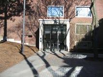 Lamont Library Harvard gård, Harvarduniversitetet, Cambridge, Massachusetts, USA Fotografering för Bildbyråer