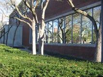 Lamont Library, Harvard Yard, Harvard University, Cambridge, Massachusetts, USA. Outside view of Lamont Library at Harvard University inside Harvard Yard, in Royalty Free Stock Photo