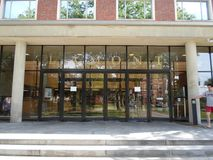 Lamont Library, iarda di Harvard, università di Harvard, Cambridge, Massachusetts, U.S.A. Fotografie Stock