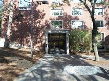 Lamont Library, yard de Harvard, Université d'Harvard, Cambridge, le Massachusetts, Etats-Unis Photo stock