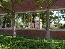 Lamont Library, yard de Harvard, Université d'Harvard, Cambridge, le Massachusetts, Etats-Unis Photos libres de droits