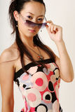 Lamor Chinese girl. With pretty face stock image