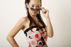 Lamor Chinese girl. With pretty face stock photos