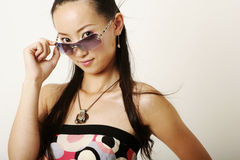 Lamor Chinese girl. With pretty face Royalty Free Stock Photo