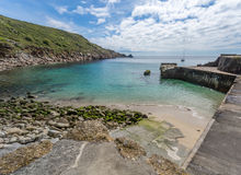 Lamorna cove cornwall england uk. Lamorna cove stunning scenery in this famous artisitic location in cornwall england uk. Sailing Royalty Free Stock Images