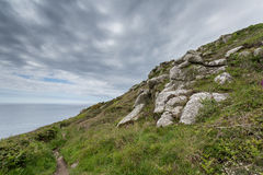 Lamorna cove cornwall england uk. Lamorna cove stunning scenery in this famous artisitic location in cornwall england uk. Sailing Royalty Free Stock Photography