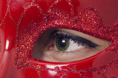 Lamour red mask. Royalty Free Stock Photos