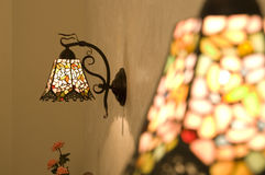 Lamp. Light lamp iron colors cute Royalty Free Stock Photography