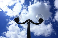 Lamp. Outdoor on te blue sky Royalty Free Stock Image