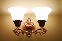 Lamp. Illuminating Interior Lamp on the Wall Stock Photo