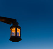 Lamp. Candel lamp and evening sky Royalty Free Stock Images