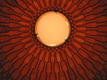 Lamp. Close up of Round ceiling lamp Royalty Free Stock Photography