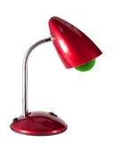 Lamp. Red table lamp with a cartridge made of grass isolated on white background Royalty Free Stock Photo