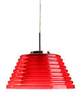Lamp. Red glass hanging lamp, isolated on white Stock Images