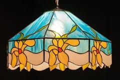 Lamp. Tiffany lamp on black background Royalty Free Stock Photos