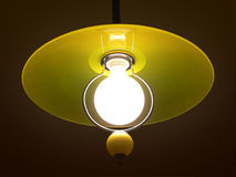 Lamp. Yellow circular lamp Stock Photos