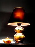 Lamp. On desk in room Royalty Free Stock Photography