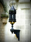 Lamp. Decorated lamp on Hluboká nad Vltavou castle stock photo