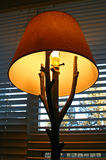 Lamp. Unique lamp with a tree base Stock Photography
