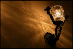 Lamp. Decorative lamp on a wall in a restarurant Royalty Free Stock Images