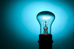 Lamp. On a dark blue background royalty free stock photography