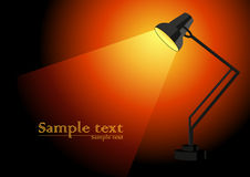 Lamp. Vector illustration, AI file included Stock Photo