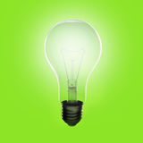 Lamp. Electric lamp on green background Stock Images