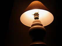 Lamp. Upshot of table lamp royalty free stock images