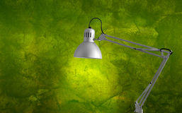 Lamp. In the house with a green wall background royalty free stock photography
