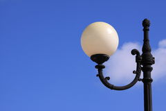 Lamp. An outside lamp post in a playground Stock Image