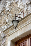 Lamp above the door Royalty Free Stock Photo
