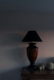 Lamp against the wall Royalty Free Stock Images