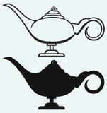 Lamp Aladdin. Isolated on blue background stock illustration
