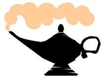 Lamp of Aladdin. Silhouette of lamp of Aladdin vector illustration
