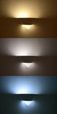 Lamp applique, three different color temperatures Royalty Free Stock Photos